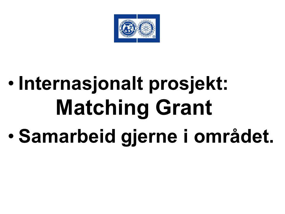 Internasjonalt prosjekt: Matching Grant Samarbeid gjerne i området.