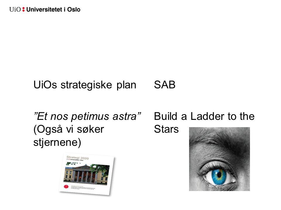 "UiOs strategiske plan ""Et nos petimus astra"" (Også vi søker stjernene) SAB Build a Ladder to the Stars"