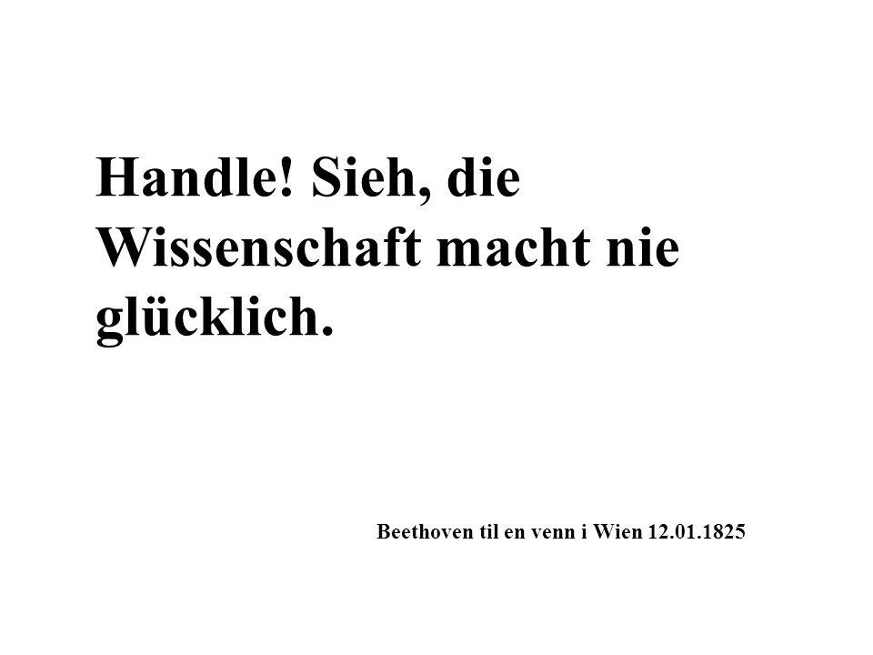 Handle! Sieh, die Wissenschaft macht nie glücklich. Beethoven til en venn i Wien 12.01.1825