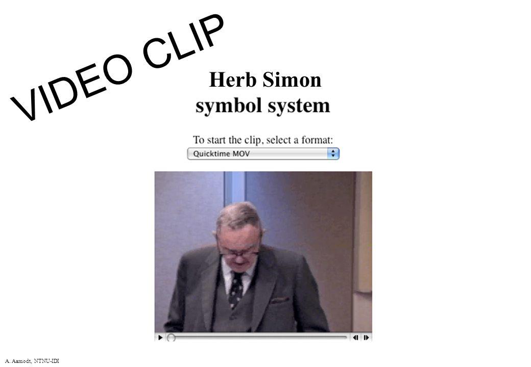 A. Aamodt, NTNU-IDI VIDEO CLIP Herb Simon