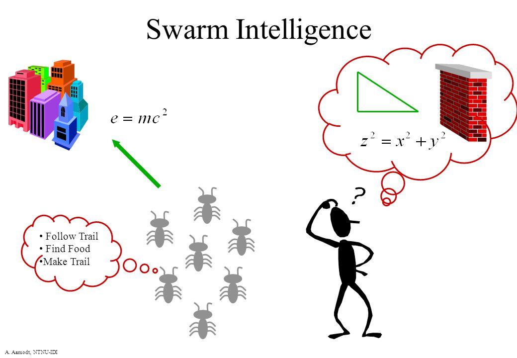 A. Aamodt, NTNU-IDI Swarm Intelligence Follow Trail Find Food Make Trail