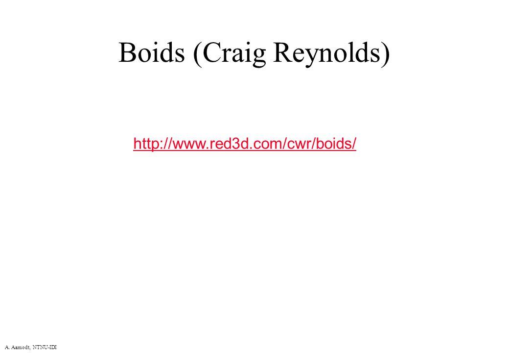 A. Aamodt, NTNU-IDI Boids (Craig Reynolds) http://www.red3d.com/cwr/boids/