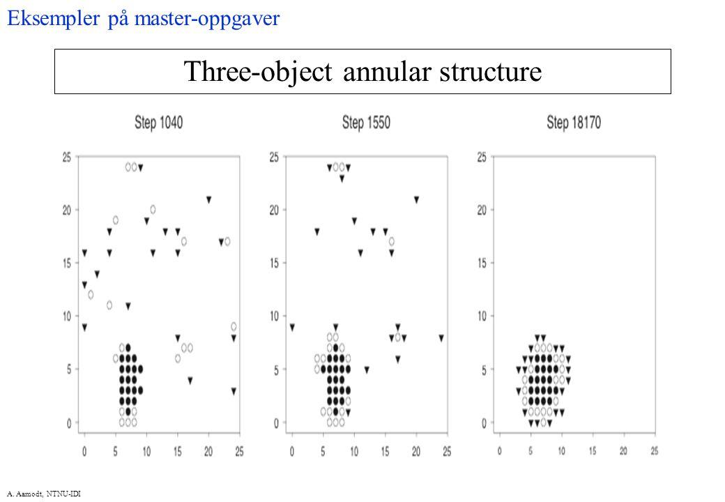 A. Aamodt, NTNU-IDI Three-object annular structure Eksempler på master-oppgaver
