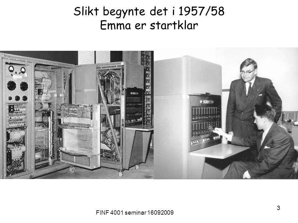 FINF 4001 seminar 16092009 24 Seminar i Statskonsult 11.10.