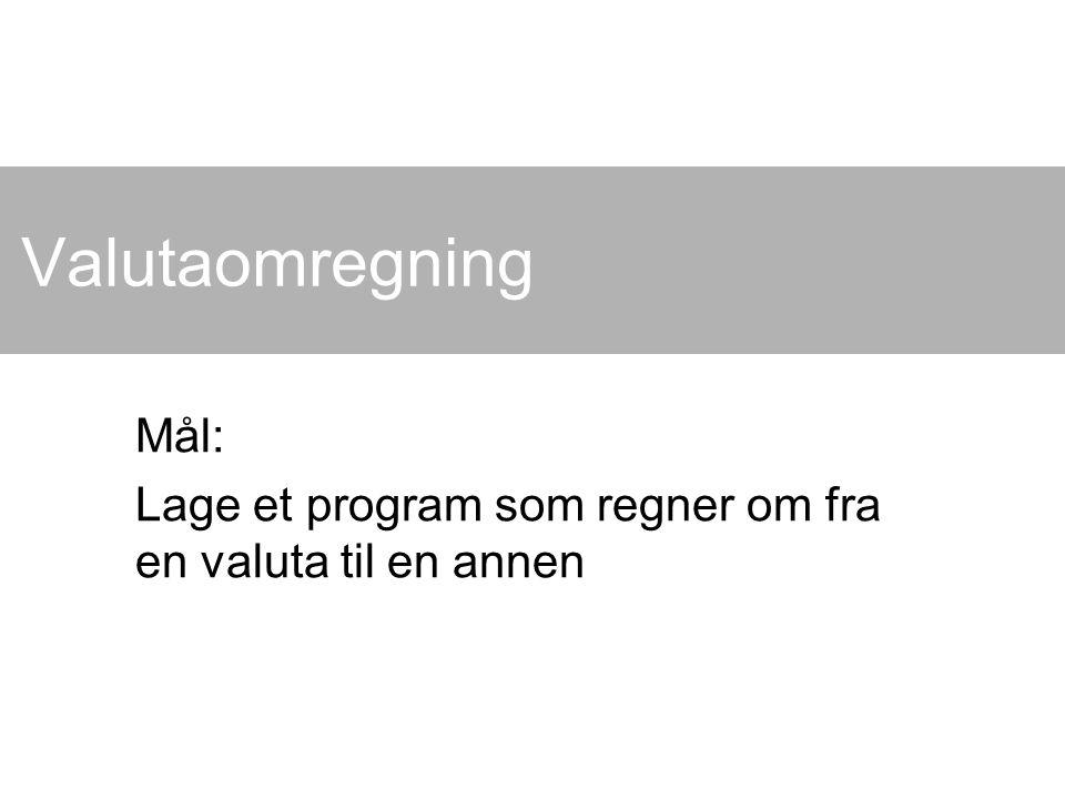 Kai A.Olsen, BIBSYS, 15.04.2015 2 Utgangspunkt Valutakurser: Vi finner disse på nett, f.eks.
