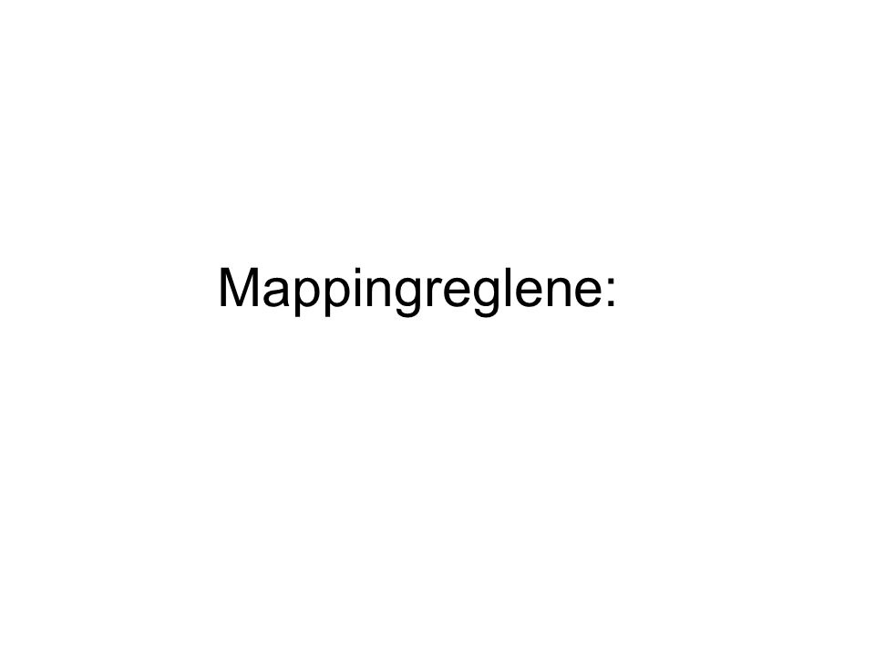 Mappingreglene: