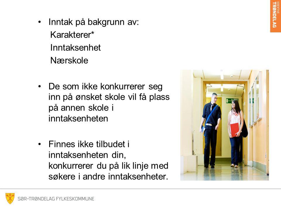 Ved spørsmål Kontakt Fagenhet for videregående opplæring Postboks 2350 Sluppen 7004 Trondheim inntak@stfk.no tlf 73 86 63 40
