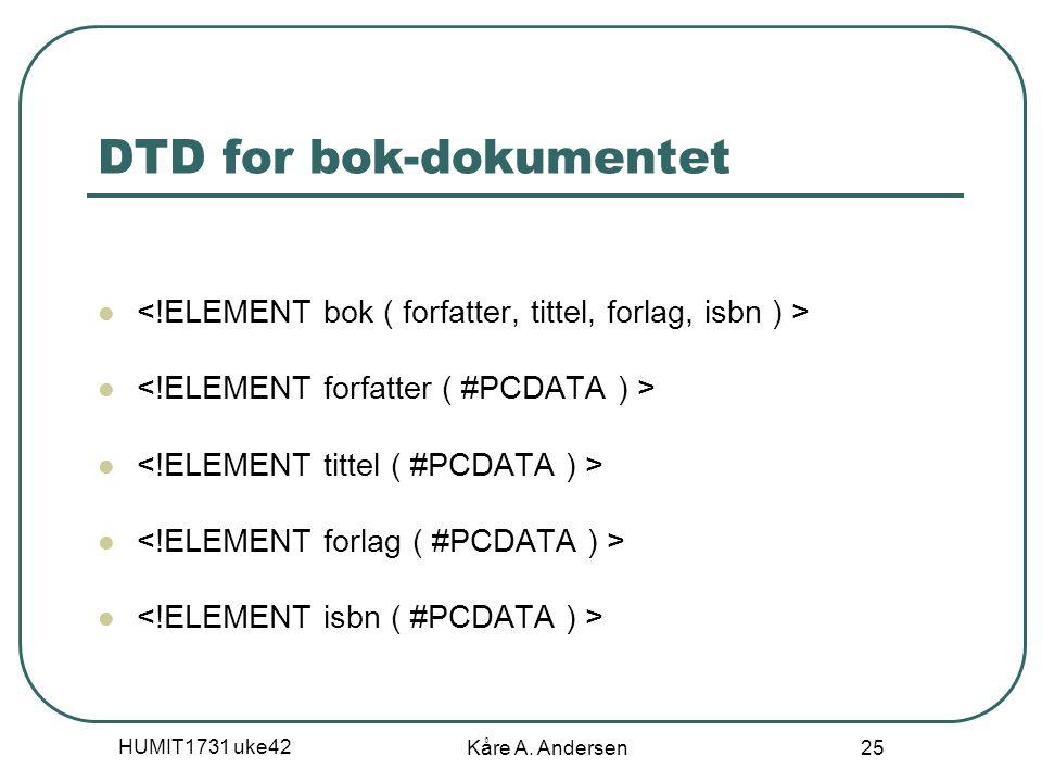 HUMIT1731 uke42 Kåre A. Andersen 25 DTD for bok-dokumentet