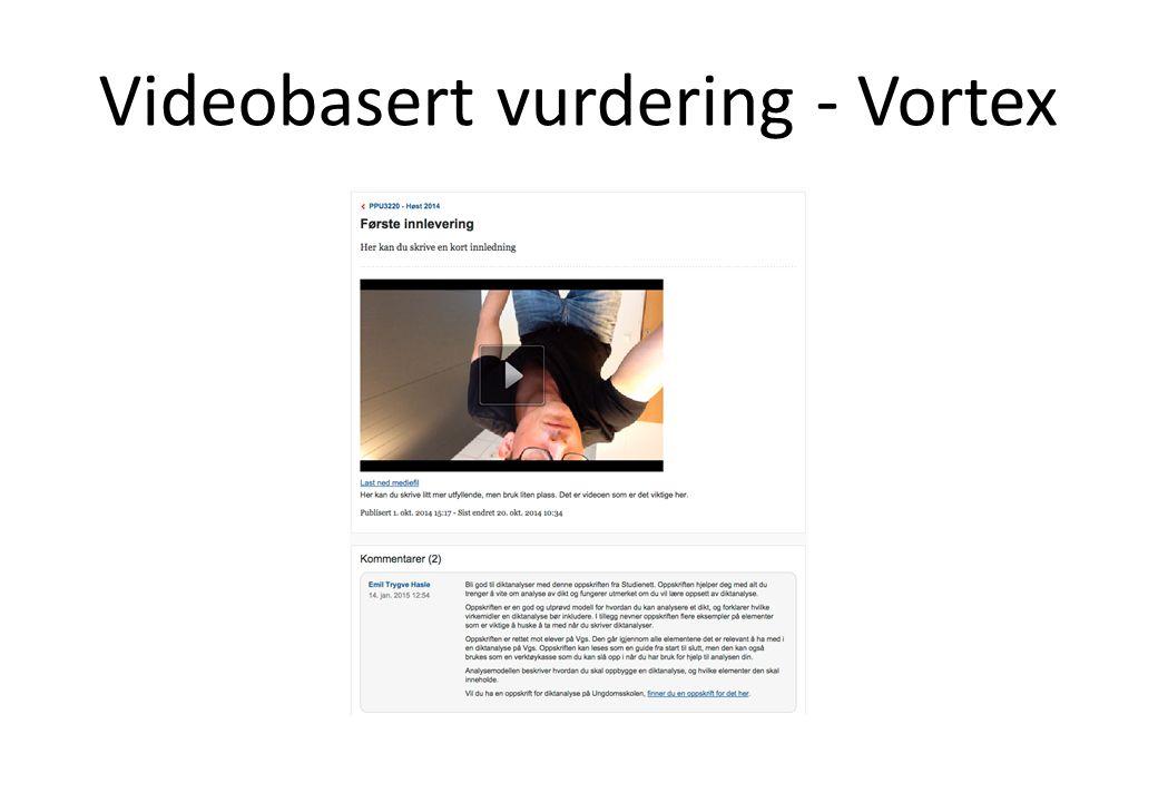 Videobasert vurdering - Vortex