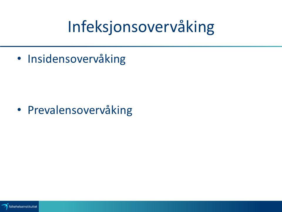 Infeksjonsovervåking Insidensovervåking Prevalensovervåking