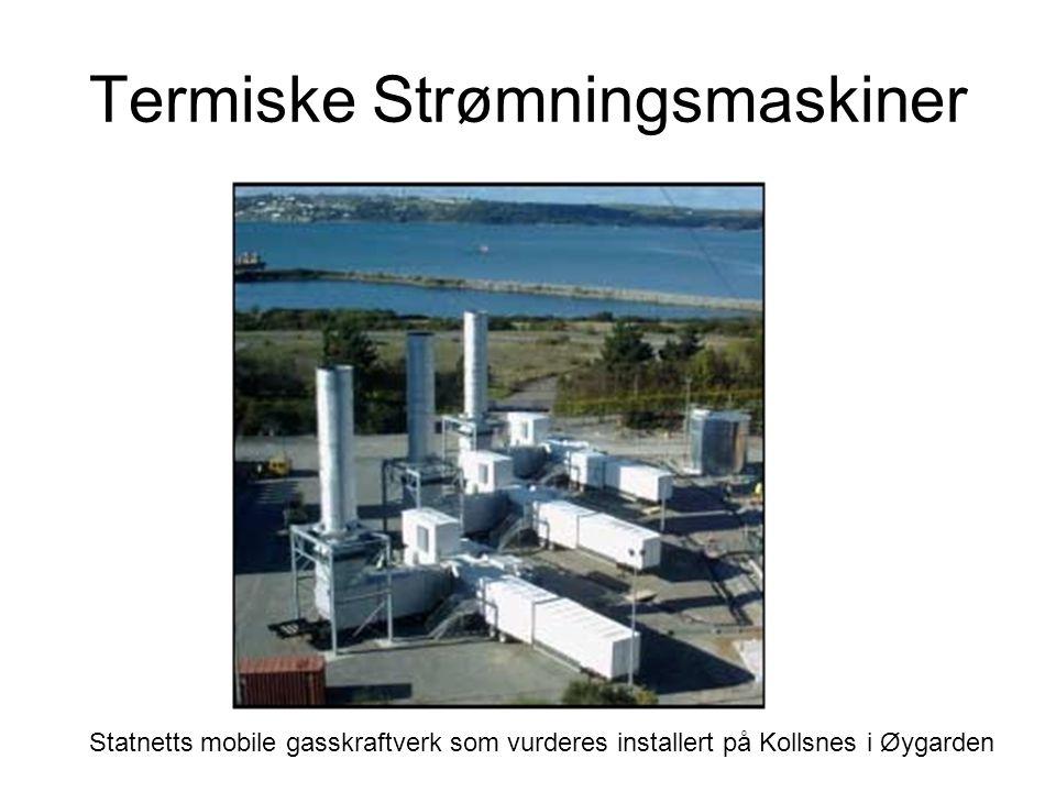 Termiske Strømningsmaskiner Statnetts mobile gasskraftverk som vurderes installert på Kollsnes i Øygarden