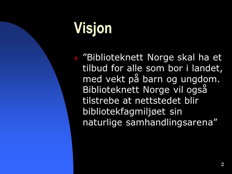 3 Biblioteknett og Kulturnett Kulturnett Norge  Åpnet i 1998  Biblioteknett -> en av 4 sektornett (Arkivnett, Museumnett, Kunstnett)  Utvikles av ABM-utvikling