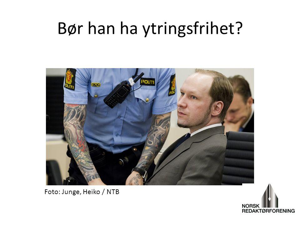 Bør han ha ytringsfrihet? Foto: Junge, Heiko / NTB