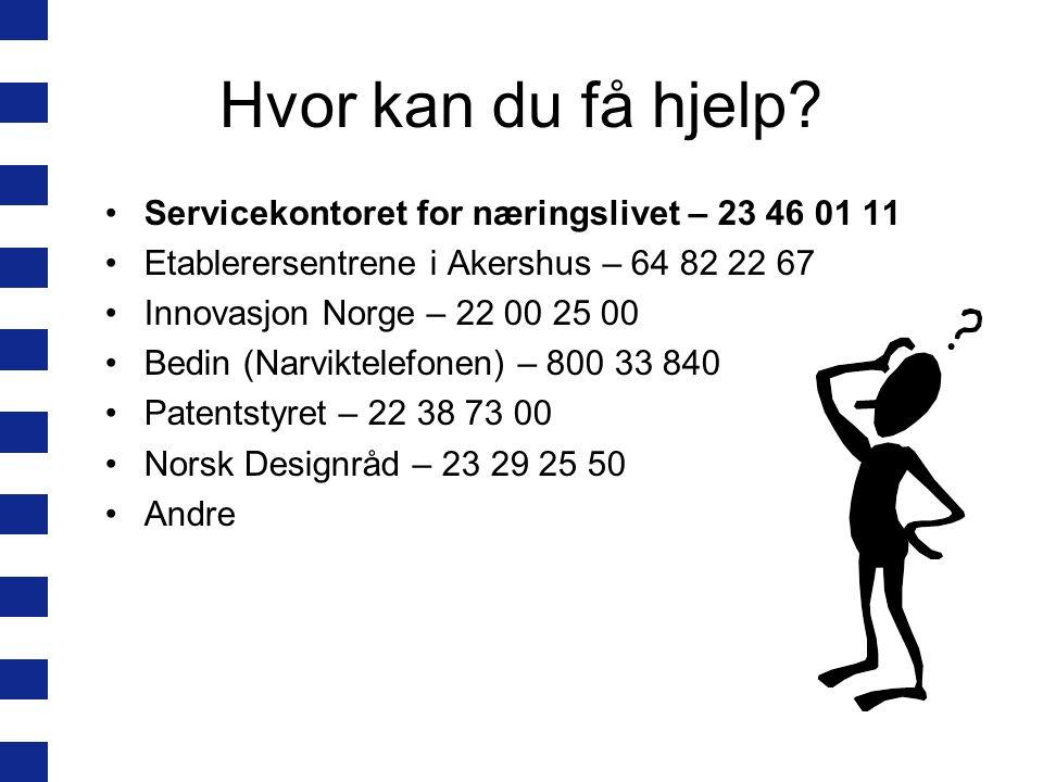Hvor kan du få hjelp.