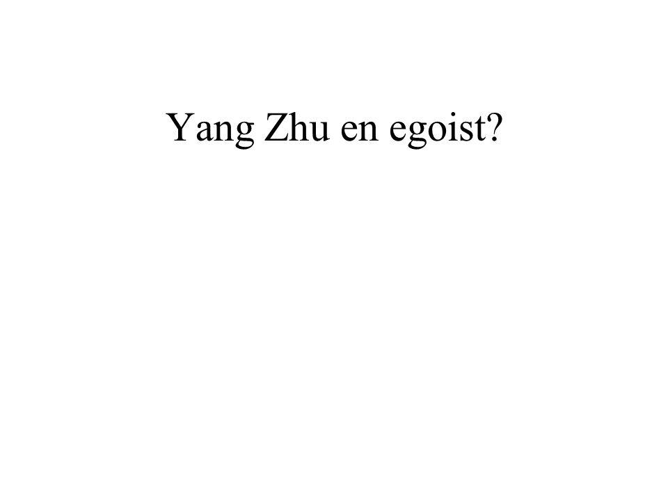Yang Zhu en egoist