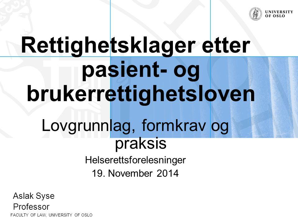 FACULTY OF LAW, UNIVERSITY OF OSLO Oppbygging av pbrl.
