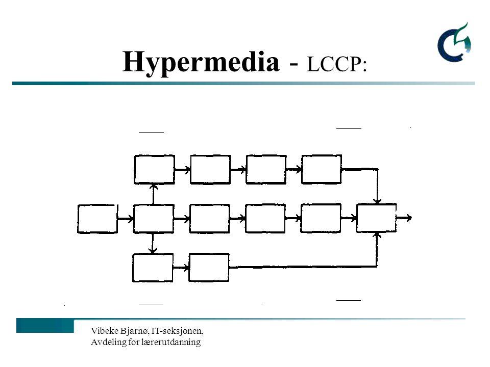 Vibeke Bjarnø, IT-seksjonen, Avdeling for lærerutdanning Hypermedia - LCCP: