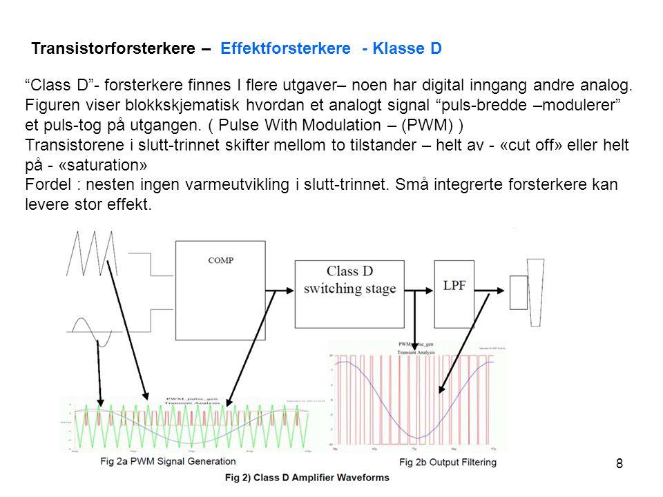 9 Felt-Effekt-Transistor FET Spenningskontrollert strømkilde BJT vs FET - FET har en MEGET stor inngangsmotstand i forhold til en BJT Ladningstransport i en FET skjer ved MAJORITETSBÆRERE.
