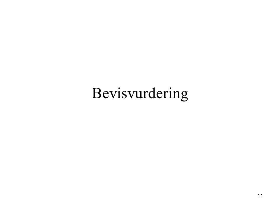 Bevisvurdering 11