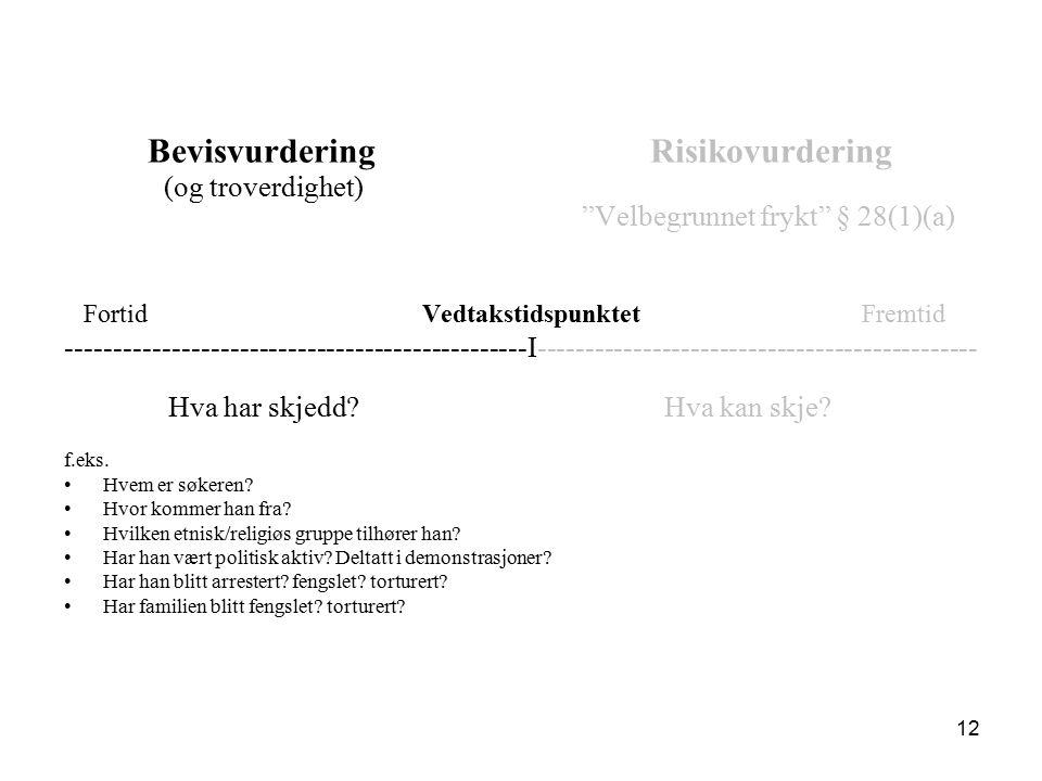 Faktagrunnlaget Søkeren har bevisbyrden: må gi opplysninger om seg selv og sitt asylgrunnlag.