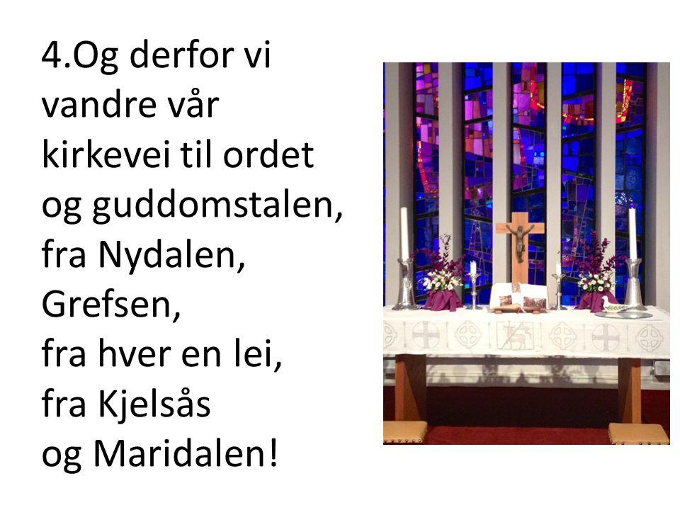 5.Men hvorfra du kommer til kirken her, så ser du den strålende stjerne som står over huset hvor Jesus er - som en gang i tider fjerne.