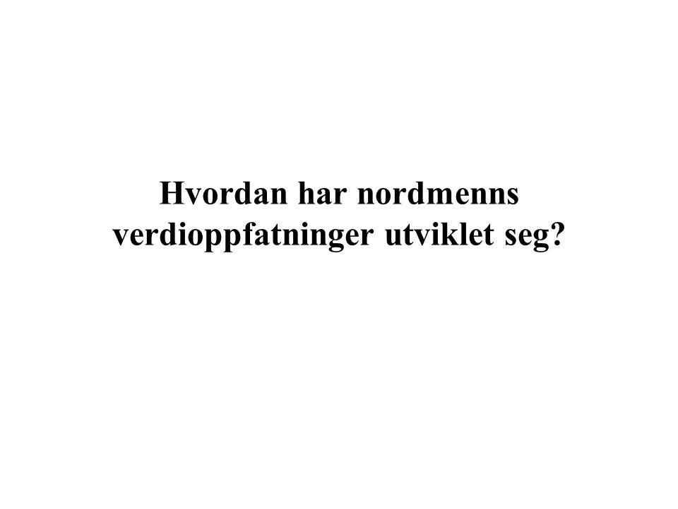 Hvordan har nordmenns verdioppfatninger utviklet seg?