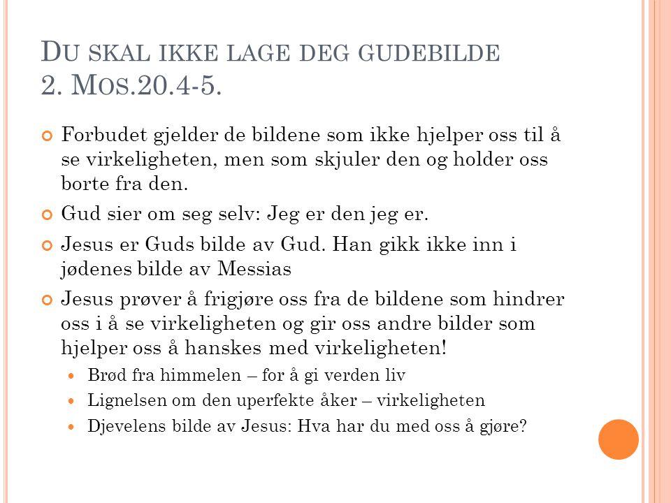 D U SKAL IKKE LAGE DEG GUDEBILDE 2.M OS.20.4-5.