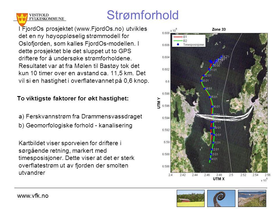 www.vfk.no Strømforhold I FjordOs prosjektet (www.FjordOs.no) utvikles det en ny høyoppløselig strømmodell for Oslofjorden, som kalles FjordOs-modellen.