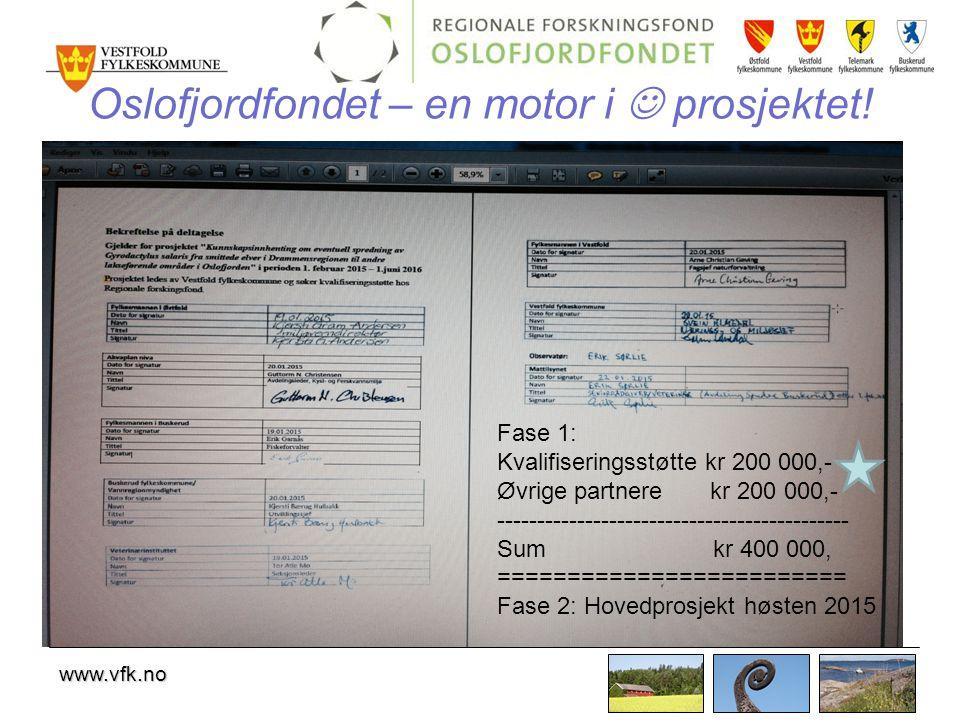 www.vfk.no Oslofjordfondet – en motor i prosjektet.