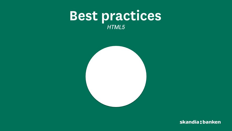 Best practices HTML5