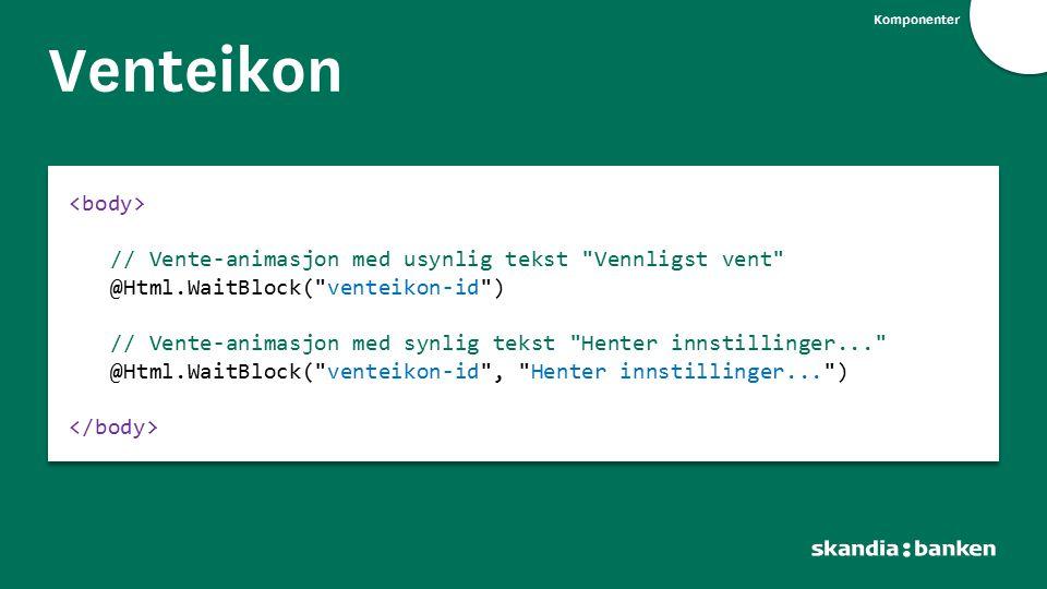 Komponenter Venteikon // Vente-animasjon med usynlig tekst