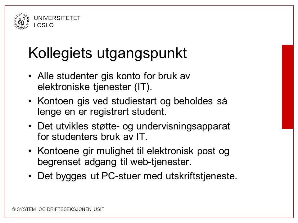 © SYSTEM- OG DRIFTSSEKSJONEN, USIT UNIVERSITETET I OSLO Struktur File-server for studenter