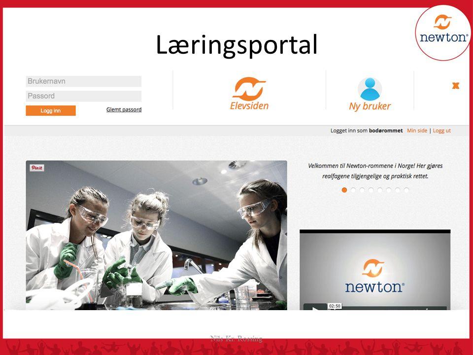 Nils Kr. Rossing Læringsportal Rapporten føres inn i Newton Læringsportal hvor hvert landslag har egen innlogg