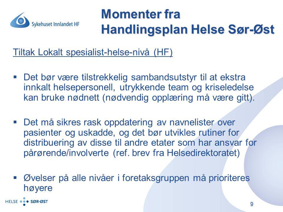 10 Status i Innlandet.