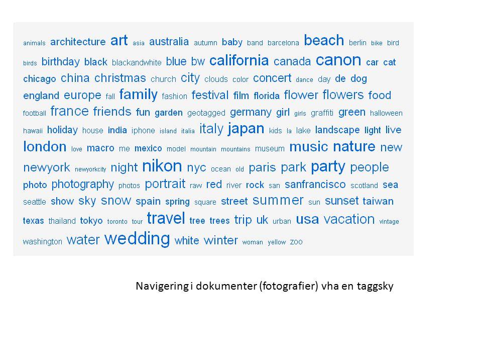 Navigering i dokumenter (fotografier) vha en taggsky