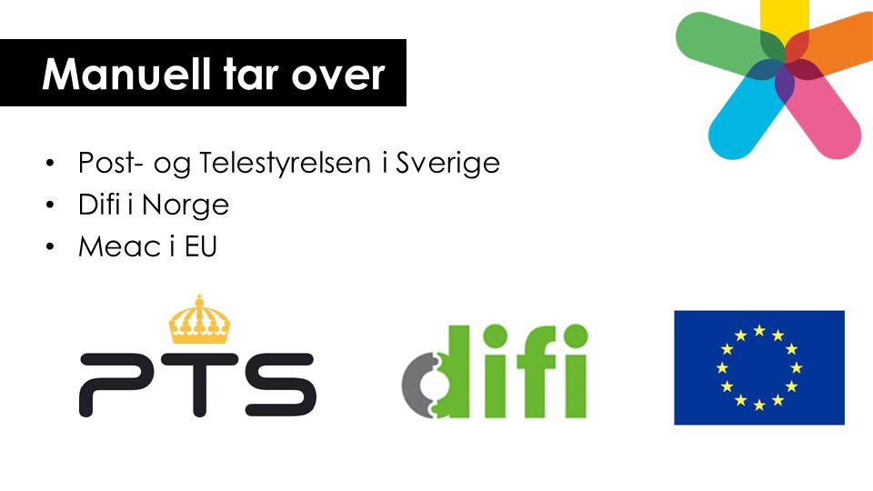 Manuell tar over Post- og Telestyrelsen i Sverige Difi i Norge Meac i EU