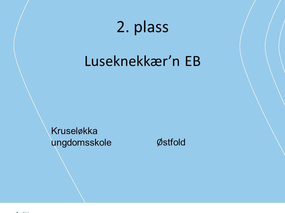 2. plass Luseknekkær'n EB Krusel ø kka ungdomsskole Ø stfold