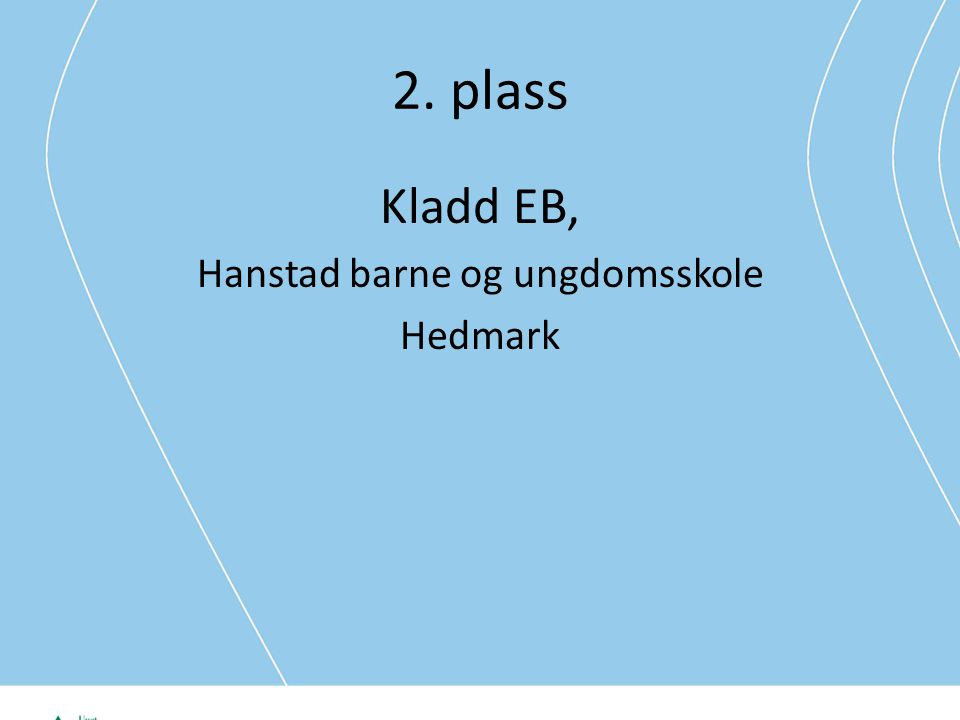 2. plass Kladd EB, Hanstad barne og ungdomsskole Hedmark