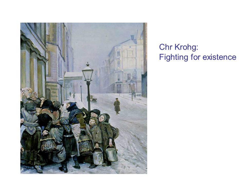 Chr Krohg: Fighting for existence