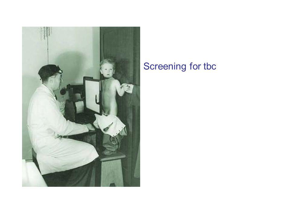 Screening for tbc