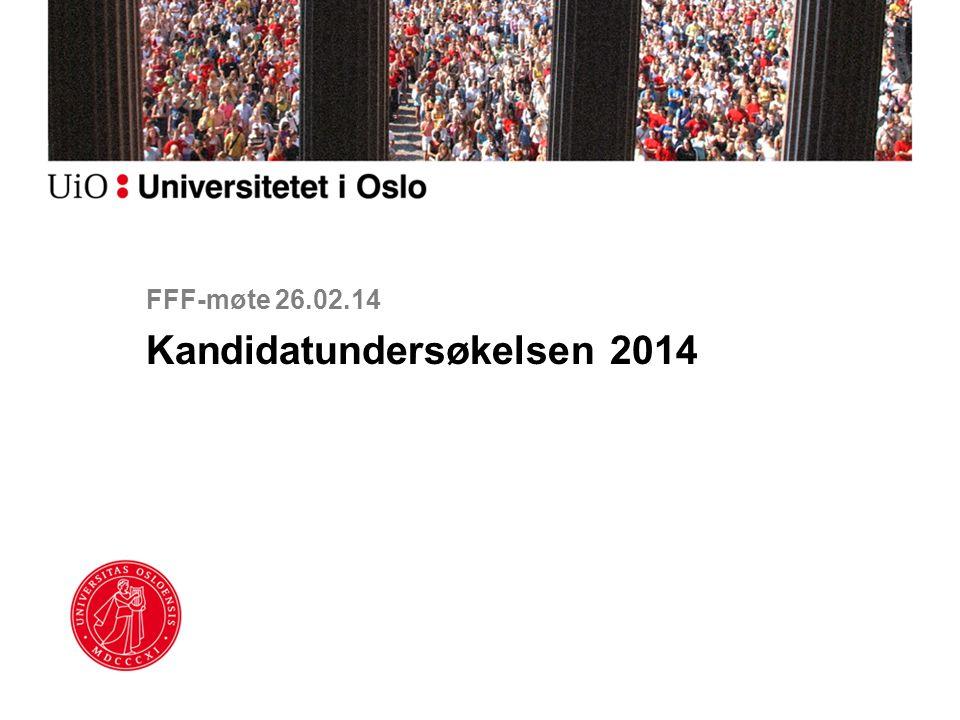 FFF-møte 26.02.14 Kandidatundersøkelsen 2014