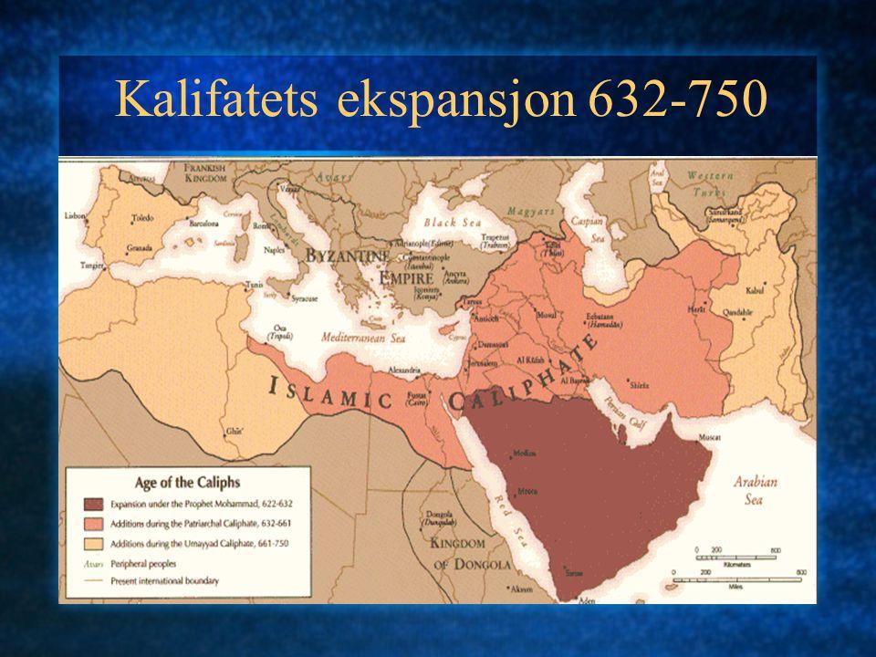 Kalifatets ekspansjon 632-750