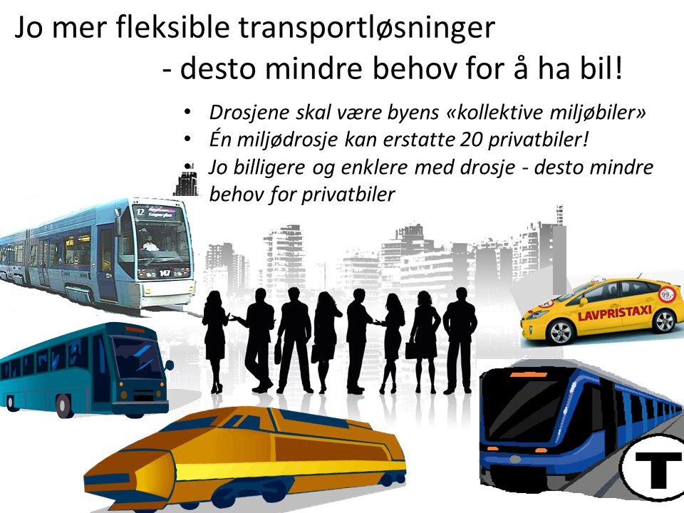 Er drosjene i dag en del av Oslos kollektivtilbud.
