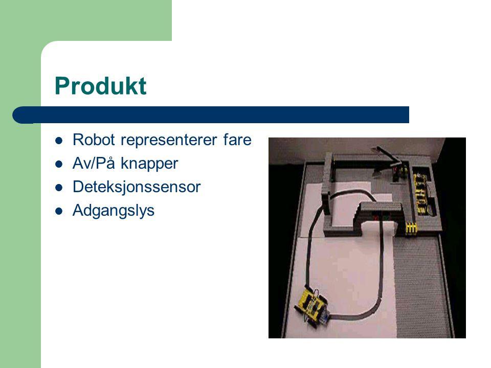 Produkt Robot representerer fare Av/På knapper Deteksjonssensor Adgangslys