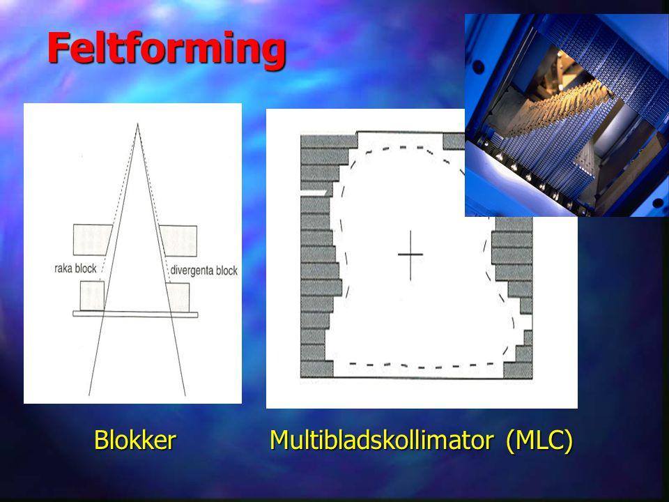 Blokker Multibladskollimator (MLC) Blokker Multibladskollimator (MLC) Feltforming