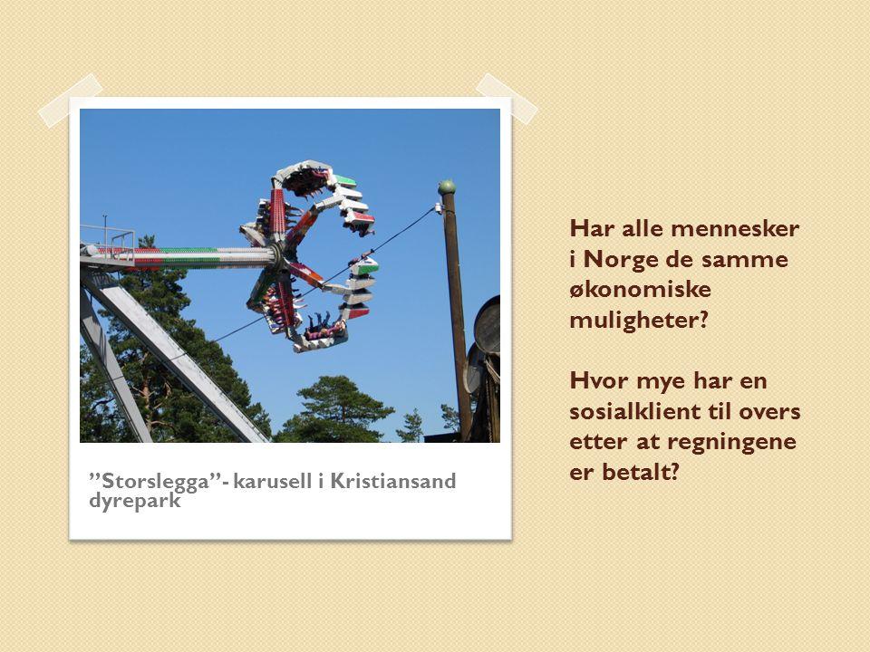 Har alle mennesker i Norge de samme økonomiske muligheter.