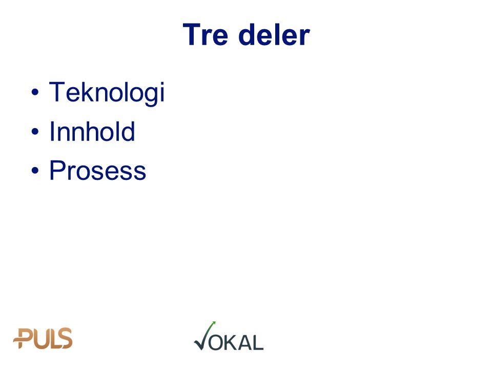 Teknologi Innhold Prosess Tre deler