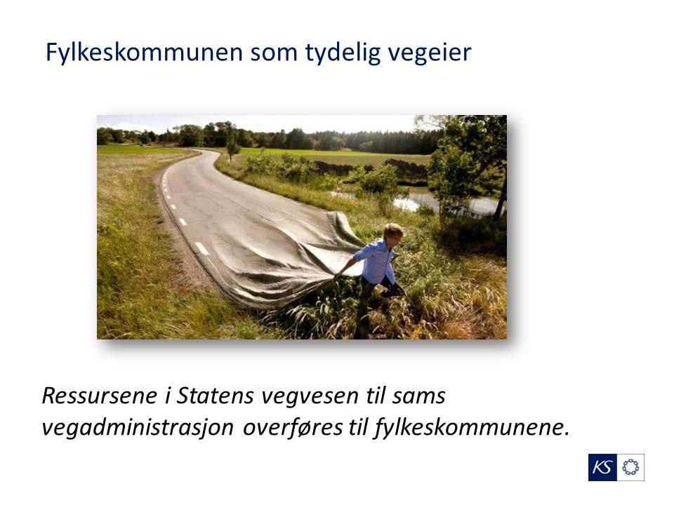 Ressursene i Statens vegvesen til sams vegadministrasjon overføres til fylkeskommunene.