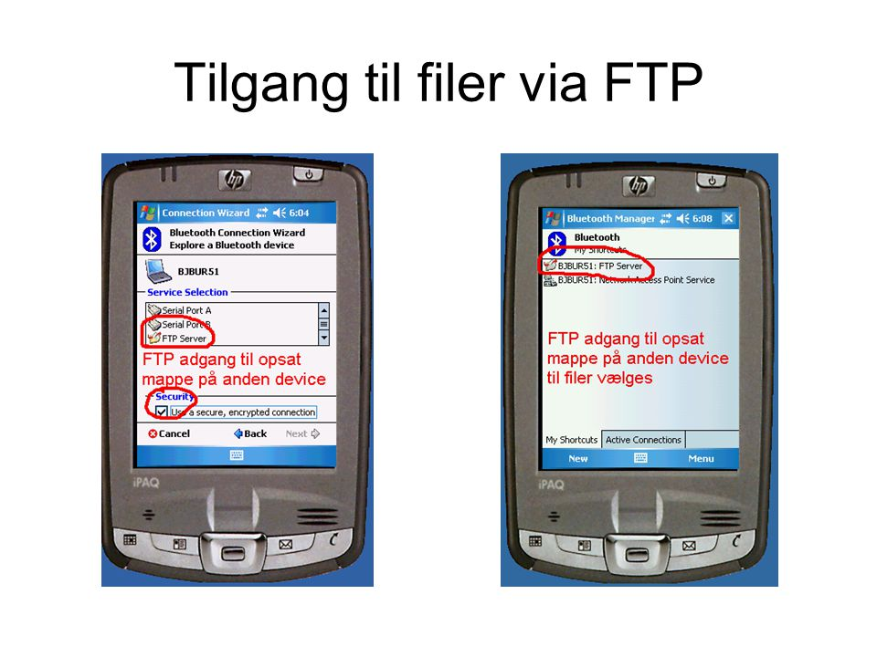 Tilgang til filer via FTP