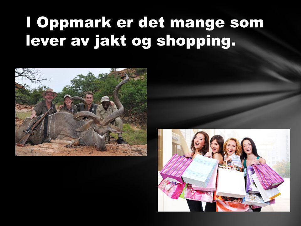 I Oppmark er det mange som lever av jakt og shopping.